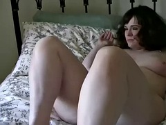 Hairy mom masturbating